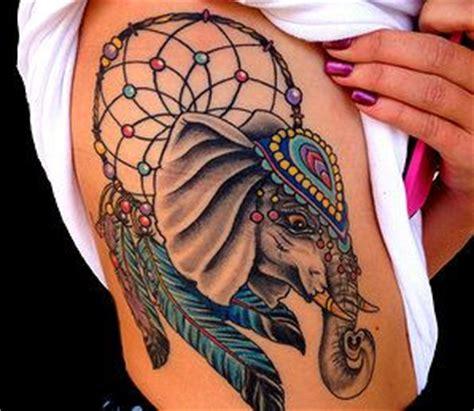 elephant tattoo dream meaning elephant dream catcher by mattsagertattoos com denver