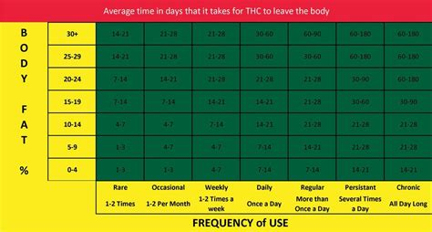 Grasscity Detox Hair by How Does Thc Stay In Your Urine Chart Test
