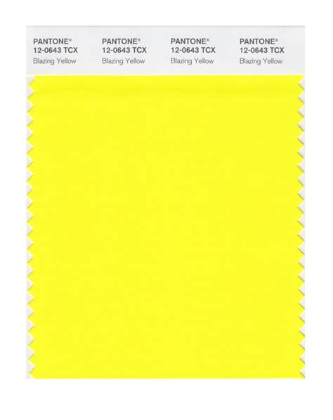 pantone yellow buy pantone smart swatch 12 0643 blazing yellow