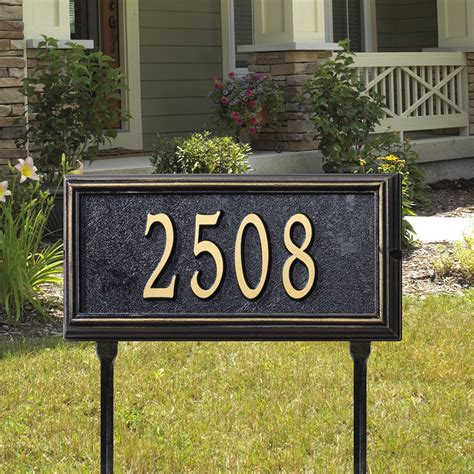 Address Plaques For Yard - whitehall products springfield standard address plaque