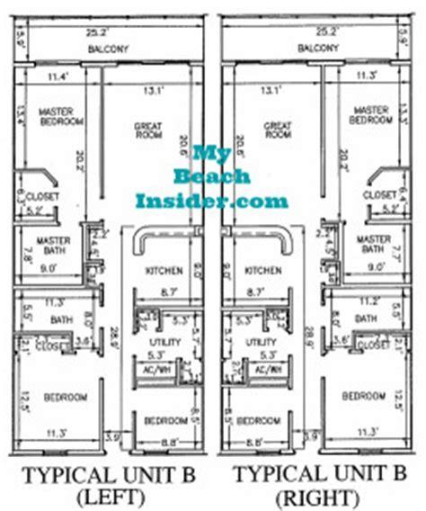 bunk room floor plans calypso towers condo floor plans panama city florida