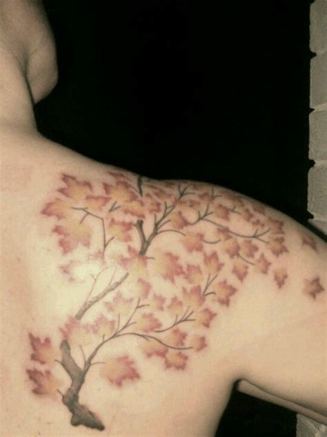 cat tattoo addison maple tree branch done by aaron grace at cat