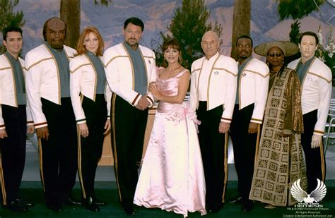 wedding dress cast nem publicity photos trekcore trek screencaps