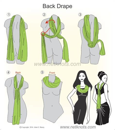 knot twist and drape scarf how to tie the back drape scarf knot