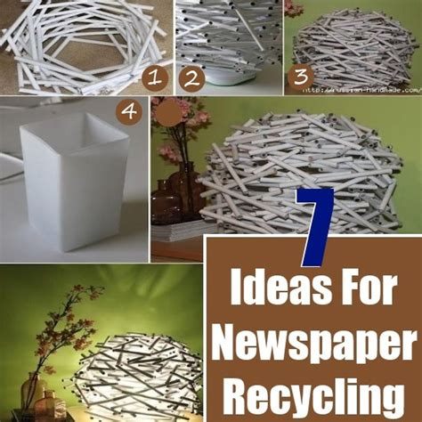 Recycled Paper At Home - 7 diy ideas for recycling newspaper diy home things