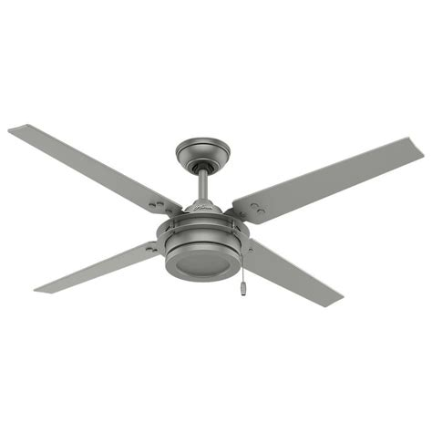 outdoor ceiling fans without lights hunter gunnar 54 in indoor outdoor matte silver ceiling