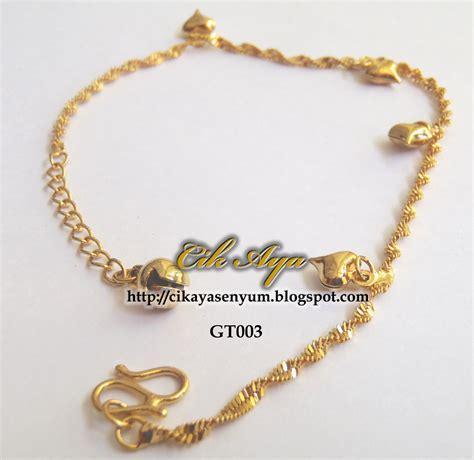 Gelang Tangan Emas 75 gelang tangan emas sadur gt003