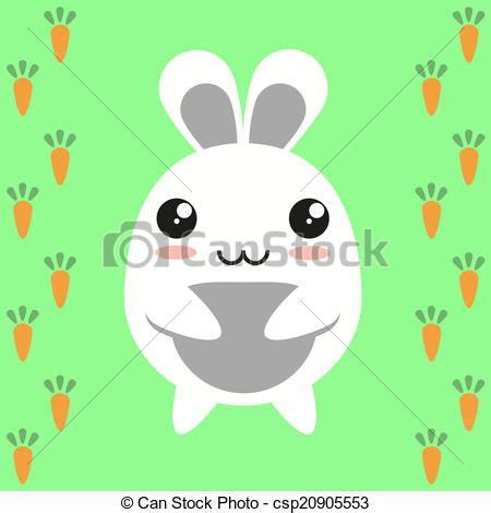 imagenes de zanahorias kawaii clipart vectorial de kawaii lindo plano zanahoria