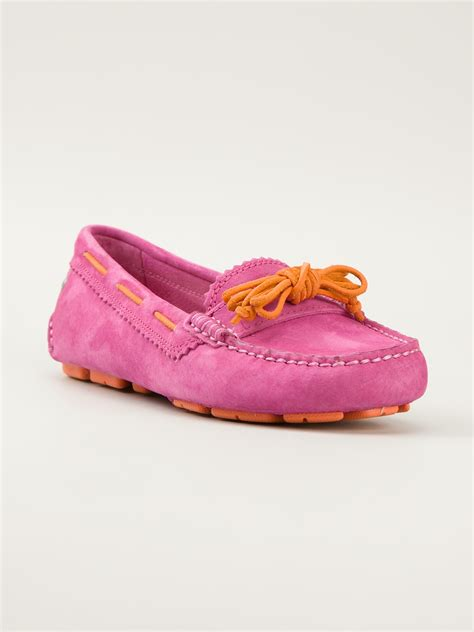 pink slipper shoes ugg meena slipper in pink pink purple lyst