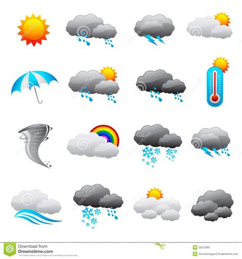 Weather Forecast Icon stock vector. Illustration of ... Free Clip Art Weather Pictures