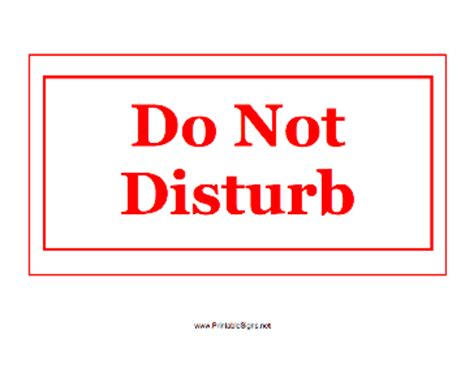 do not disturb sign template printable do not disturb sign