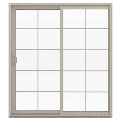 Mini Blinds For Patio Doors Stanley Doors 72 In X 80 In Sliding Patio Door With Mini Blinds 600004 The