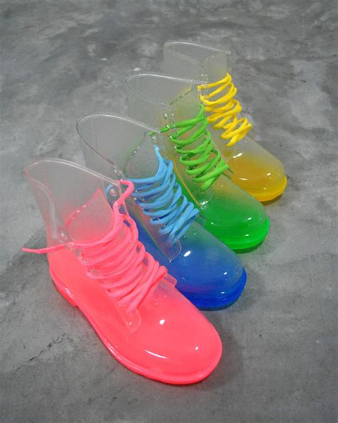 boot colors shoes clear boots colorful laces wheretoget