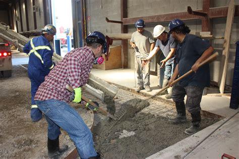 Cement Finisher Level 1   LiUNA Local 183 Training Centre