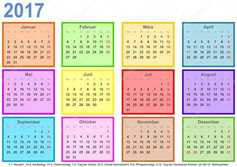 Calendario 2017 Mes A Mes Calendario 2017 Cada Mes Diferentes Colores Cuadrado Ger
