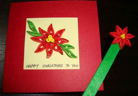 poinsettia paper craft paper n quill crafts poinsettia