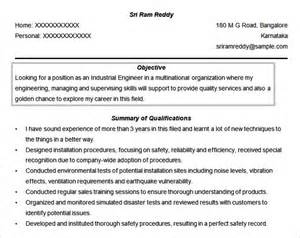 Engineer Resume Objective by Resume Objectives 46 Free Sle Exle Format Free Premium Templates
