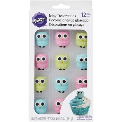Owl Icing Decorations owl edible icing decorations wilton