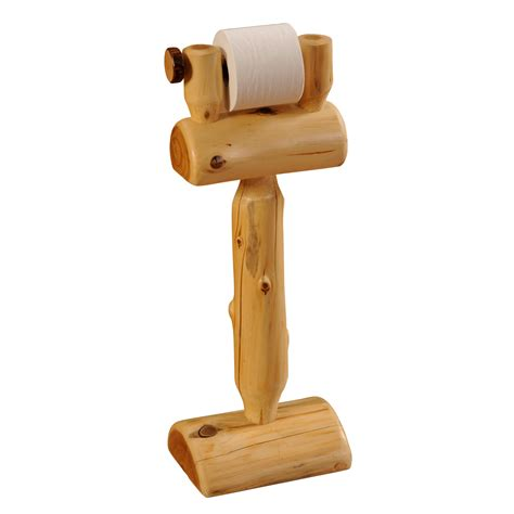 paper stand holder standing log toilet paper holder