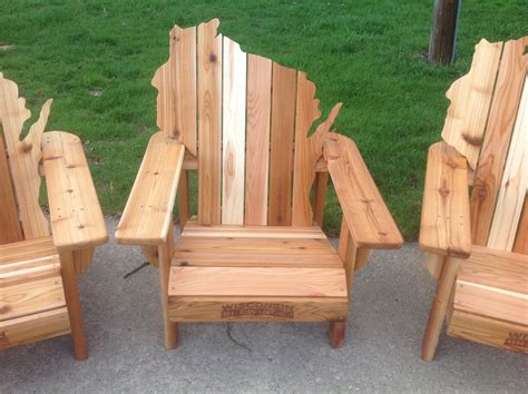 Handmade Wooden Chairs - custom made personalized cedar adirondack wisconsin chairs