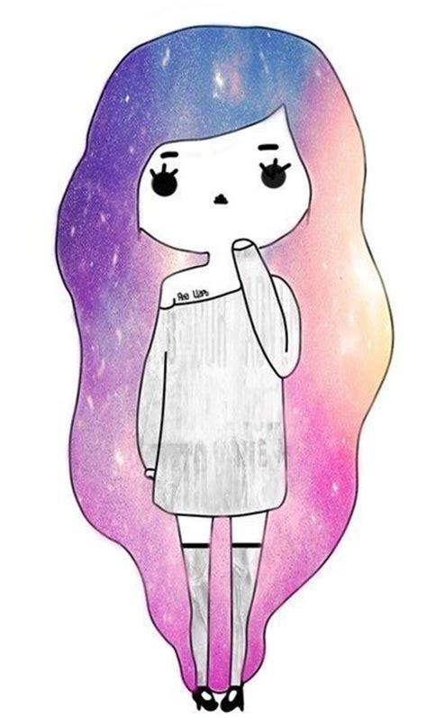 imagenes kawaii chidas oblyvian girls on pinterest galaxy hair tumblr girls
