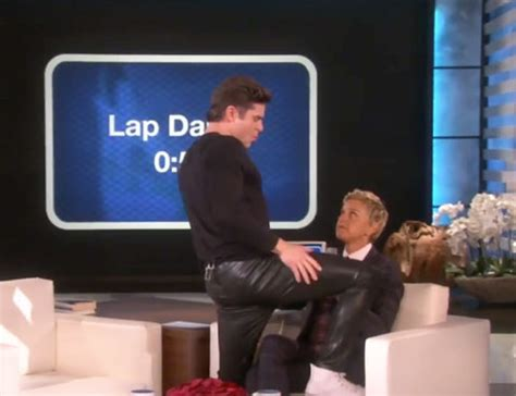 ellen degeneres zac efron watch zac efron twerk and give ellen degeneres a lap dance