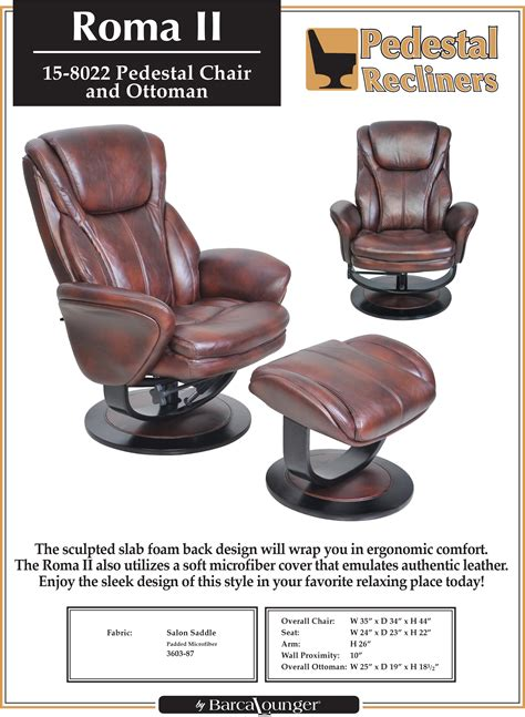 reclining chair dimensions barcalounger roma ii recliner chair and ottoman leather