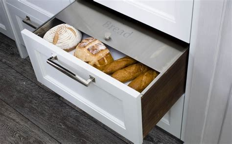 Bread Drawer Liner by Custom Fitted Stainless Bread Drawer Modern Kitchen