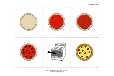makes a pizza sequencing cards pepperoni pizza sequencing activity speech therapy ideas