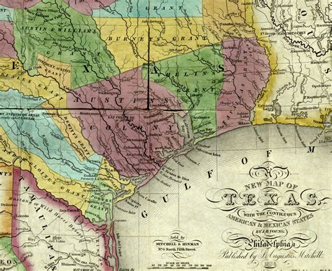 early texas maps texas map 1836