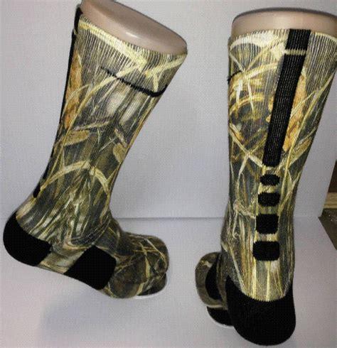 Camo Socks custom duck land camo nike elite socks ebay