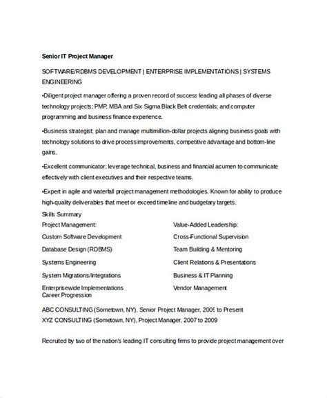 Application Development Manager Sle Resume by Professional Manager Resume