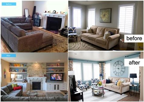 living room makeovers before and after inspiring before and after living room makeovers