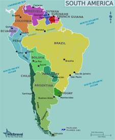 south america tourist attractions map south america wikitravel