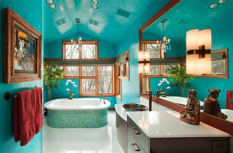 bathroom colors 25 bathrooms that beat the winter blues with a splash of