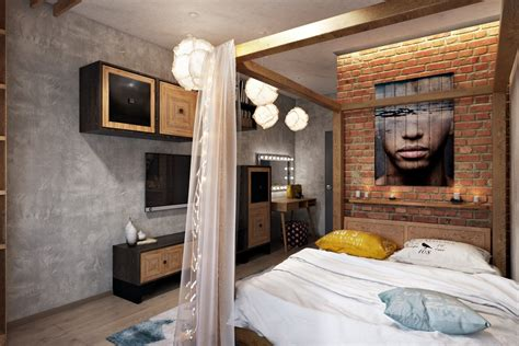 loft style bedroom bedroom visualisations true modern comfort is an art