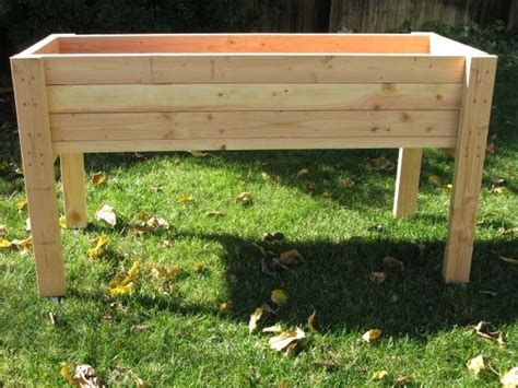 Living Green Planters Portable Elevated Planter Box For Vegetable Garden Planter Box Plans