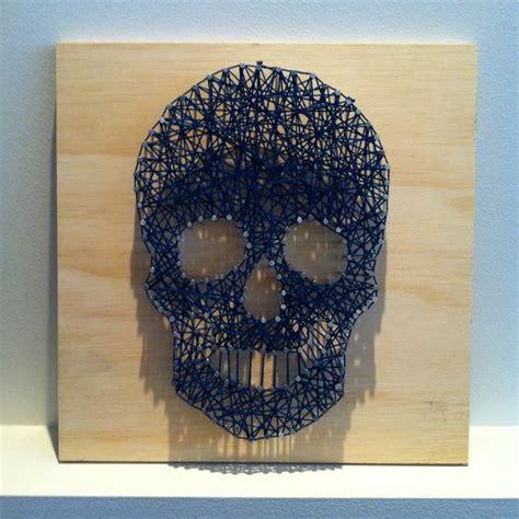 String Skull - string skull artsy string