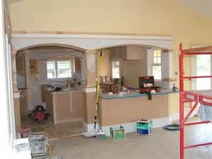 Kitchen Peninsula Support Post Arches Kitchen