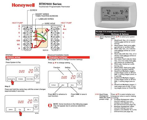 Help with Honeywell 7 Day Programmable Thermostat   RTH7600D Installation   DoItYourself.com