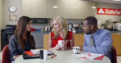 state farm commercial actress purse state farm 174 commercial magic jingle disappearing agents