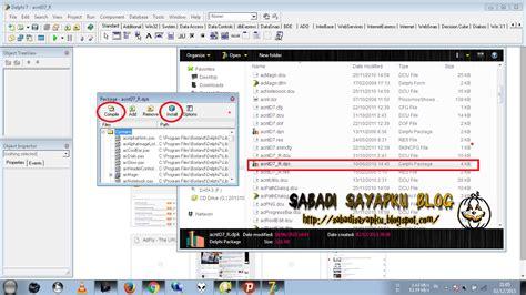 tutorial delphi7 cara memasang komponen alphaskin delphi 7 full tutorial