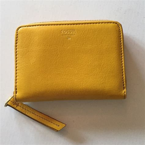 Fossil Small Wrislet Ori 1 76 fossil clutches wallets yellow fossil small