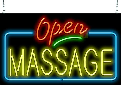 massage open neon sign hn   jantec neon