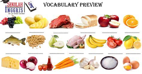 belajar mengenal nama nama makanan