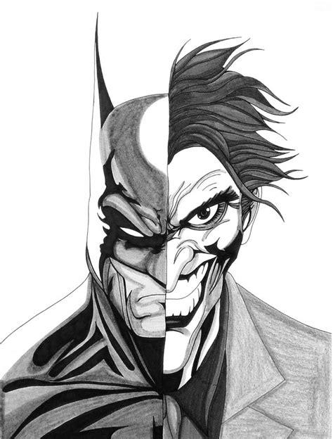 Batman Joker On Behance Drawings Of Joker Faces 2