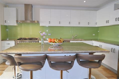 Kitchens With Black Cabinets by Green Splashbacks Perth Green Kitchen Splashbacks