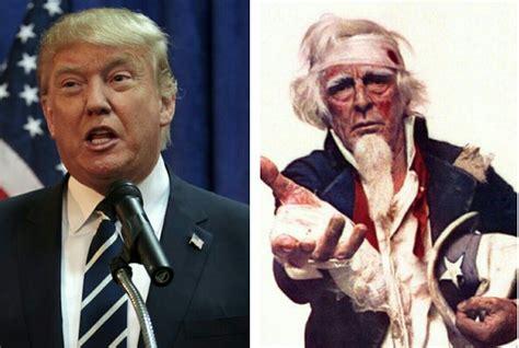 Donald Trump Umur   donald trump disebut mirip uncle sam ini sebabnya