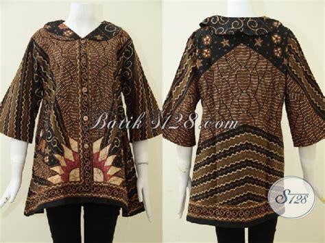 Blouse Batik Klasik Bisa Busui busana batik tulis mewah ukuran jumbo untuk wanita berbadan gemuk blus batik klasik desain