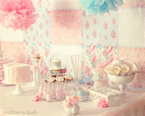 a shabby chic princess tea party